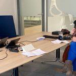 Merel Steinweg neemt podcast op met Marcelle Hendrickx