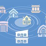 woningen in een cirkel